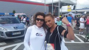 Inainte de cursa, cu Carmen