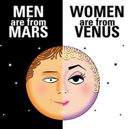 an analysis of men from mars and women from venus by john grey If men are from mars and women are from venus,  from the amount of grey and white matter to the strengths of connections in the brain much of the analysis focused.
