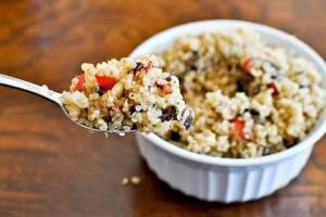 quinoa cu ciuperci si legume