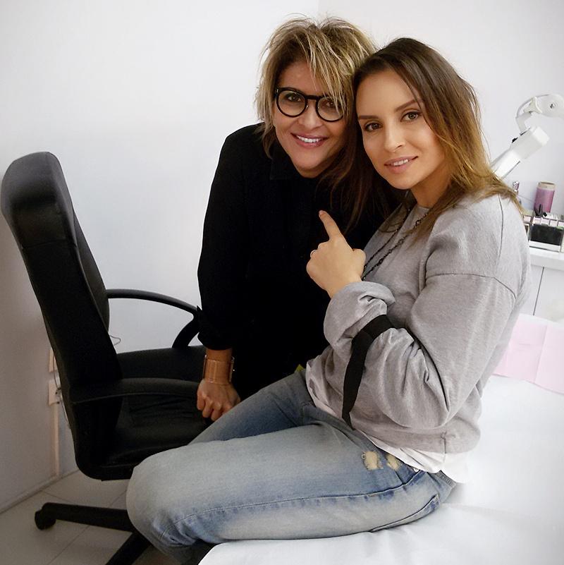 Maria Pauna mi-a facut micropigmentare la sprancene