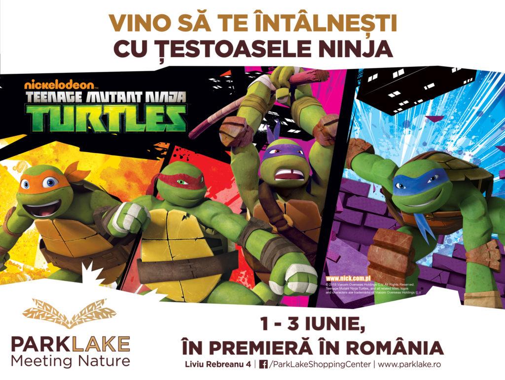 Țestoasele Ninja vin pentru prima dată în România la ParkLake Shopping Center